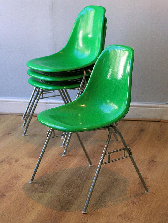 Green Chairs eames shells - herman miller - three magdalen streetthree magdalen
